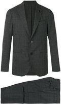 Lardini two-piece plaid suit - men - Cotton/Cupro/Viscose/Wool - 46