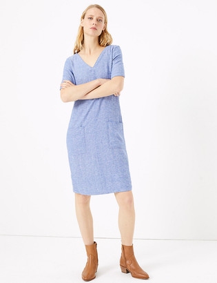Marks and Spencer Linen V-Neck Shift Dress