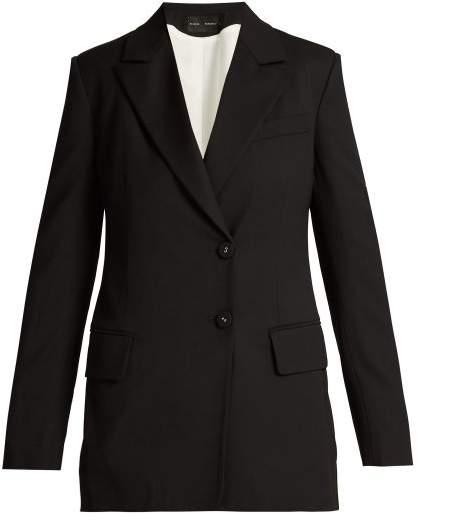 Proenza Schouler Single Breasted Wool Blend Blazer - Womens - Black