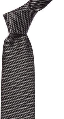 Lanvin Grey Ovals Silk Tie