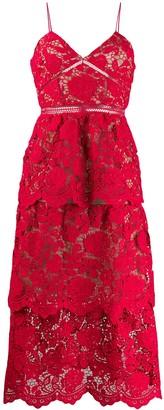 Self-Portrait floral-lace A-line dress