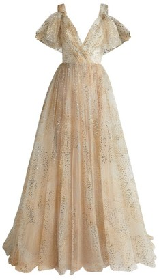Monique Lhuillier Glitter Tulle Gown