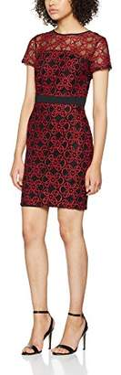 Dorothy Perkins Petite Women's Lace Pencil Dress, (Red)