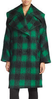Trina Turk Double-Breasted Plaid Coat