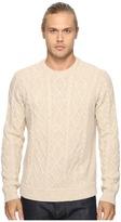 Original Penguin Long Sleeve Wool Alpaca Fisherman Sweater