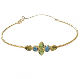 Perle de Lune Color Nova Bangle - Blue Topaz, Green Tourmaline, 18K Gold