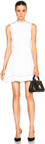 Victoria Beckham Dense Rib Ajoure Flare Mini Dress