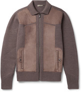 Bottega Veneta Suede-panelled Wool Bomber Jacket