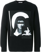 Givenchy abstract portrait top