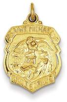 1928 Gold and Watches 24k Gold-plated Sterling Silver Saint Michael Badge Medal