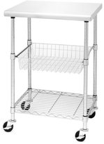 Seville Classics Stainless Steel Professional Kitchen Cart Cutting Table
