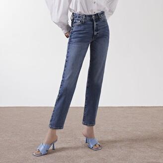 River Island Womens Blue Blair high rise straight jeans