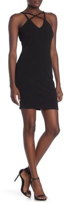 Material Girl V-Neck Bodycon Dress