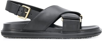 Marni Cross-Strap Sandals