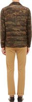 Moncler Camouflage-Print Channel-Quilted Down Jacket