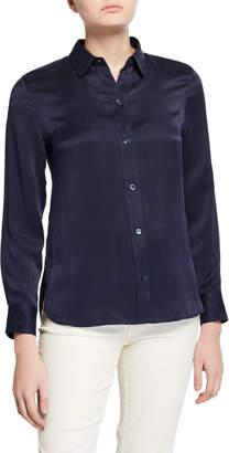 Equipment Leema Button-Down Silk Satin Shirt