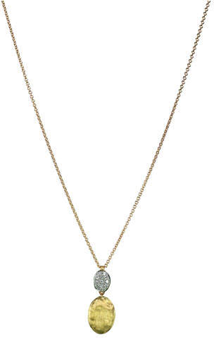 Marco Bicego Siviglia 18K Gold & Pave Diamond Pendant Necklace