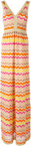 M Missoni zigzag V-neck dress - women - Cotton/Polyamide/Polyester/Metallic Fibre - 44