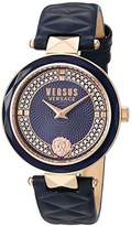 Versus By Versace Women's 'COVENT GARDEN CRYSTAL' Quartz Stainless Steel and Leather Casual Watch