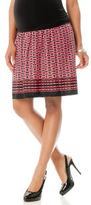 Motherhood Secret Fit Belly® Knee Length Unlined Maternity Skirt