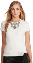 Polo Ralph Lauren Jeweled-Neckline Tee