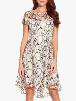 Adrianna Papell Graphic Radiance Dress, Blush Multi