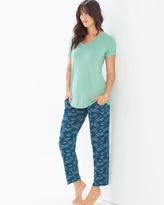 Soma Intimates Ankle Pants Pajama Set Social Scene Wasabi