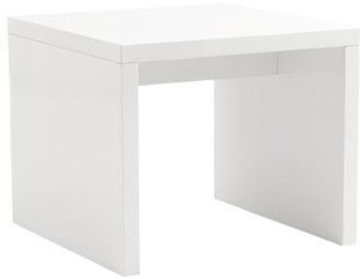 Ebern Designs Lacona Contemporary End Table Color: White