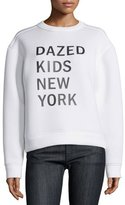 DKNY Dazed New York Kids Pullover Sweatshirt, Chalk