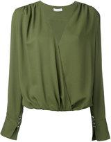 Altuzarra longsleeve V-neck blouse - women - Silk/Nylon/Spandex/Elastane/Acetate - 36