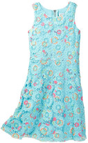 Blush by Us Angels Fit to Flare Crochet Floral Dress (Big Girls)