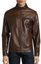 Isaia Leather Jacket