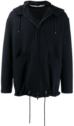 Valentino Zipped Hooded Jacket