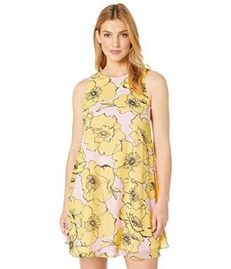 Taylor Dresses Women's Sleeveless Printed Floral Shift Dress