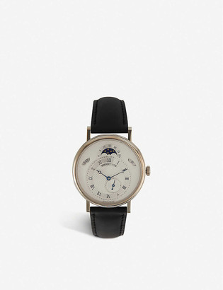 Breguet 7337BB/1E/9V6 Classique 18ct white-gold and alligator-embossed leather watch