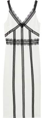 Jason Wu Lace-trimmed Charmeuse Midi Slip Dress