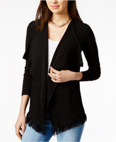 Tommy Hilfiger Open-Front Fringe Cardigan, Only at Macy's