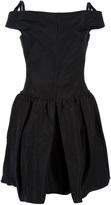 sleeveless fitted waist dress
