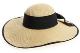 BP Women's Bow Floppy Straw Hat - Beige