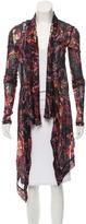 Fuzzi Oversize Floral Patterned Cardigan w/ Tags