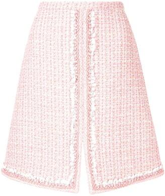 Giambattista Valli Split-Hem Tweed Skirt