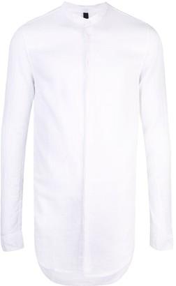 Poème Bohémien Band Collar Longline Shirt