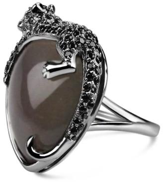 Umbra Bellus Domina Agate Black Panther Cocktail Ring