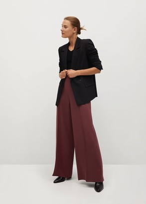 MANGO Fluid culotte pants wine - 6 - Women