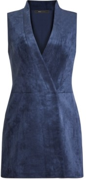 BCBGMAXAZRIA Faux-Suede Mini Dress