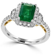 Effy Brasilica Diamonds, Emerald, 14K White Gold and 14K Yellow Gold Ring