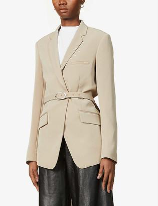 Rag & Bone Andre padded-shoulder woven blazer
