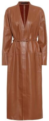 ZEYNEP ARCAY Leather wrap dress