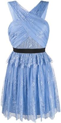 Self-Portrait Fine Lace Mini Dress