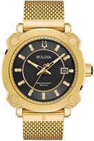Bulova Men's Precisionist Grammy Gold-Tone Stainless Steel Mesh Bracelet Watch 44mm